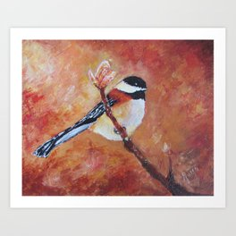It's a Chickadee Art Print