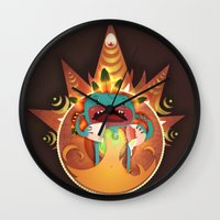 fifth element Wall Clocks featuring Element by Miki  Company