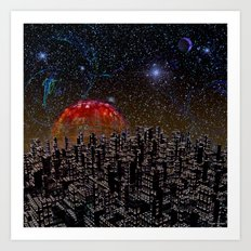 Blood Moon Rising Art Print