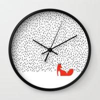 grass Wall Clocks featuring Black grass by Robert Farkas