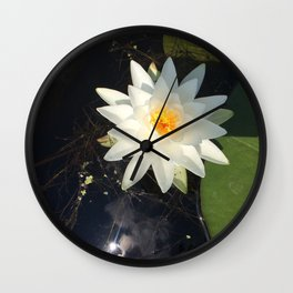 Naturals by Nikki - White Water Lily (open) Wall Clock