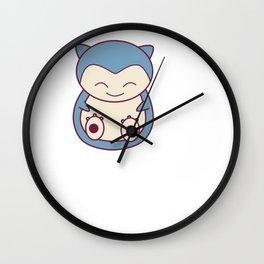 Kawaii Chibi Snorlax Wall Clock
