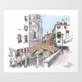 Fondamenta del Piovan, Venice Art Print