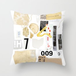 Paper Trail II Throw Pillow