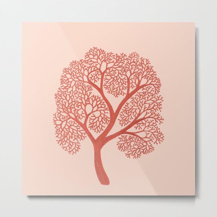 Corals in Copper Metal Print