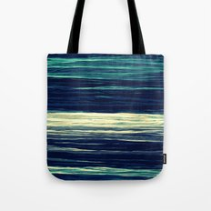 Blue Teal Texture Stripes Tote Bag
