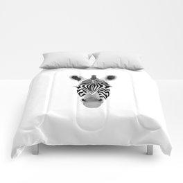 Watercolor and Ink Zebra Comforters