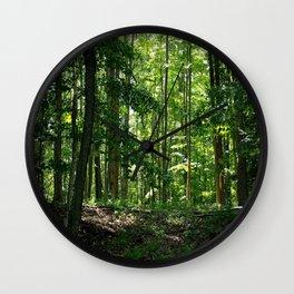 Pine tree woods Wall Clock