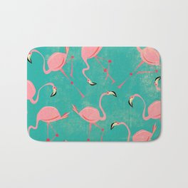 Pink Flamingo  Pattern Bath Mat