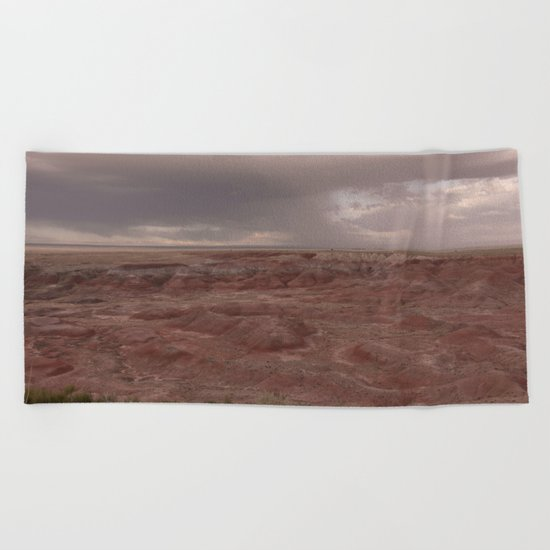 Desert Rain Clouds Beach Towel