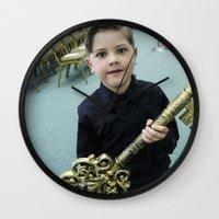 key Wall Clocks featuring Key by Faith Buchanan