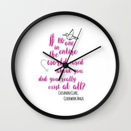 Do you exist at all? | Infernal Devices Wall Clock