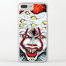 Scary Clown Clear iPhone Case