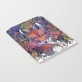 Hiding fox rainbow Notebook