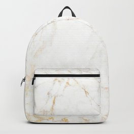 White Marble with Delicate Gold Veins Backpack