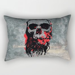 Blood Skull Rectangular Pillow