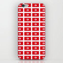 flag of tunisia 2 -tunisie, tunisian,tunis,Maghreb. iPhone Skin