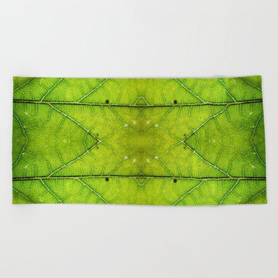 Macro Leaf no 9 Beach Towel
