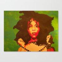 erykah badu Canvas Prints featuring Erykah Badu  by Paintings That Pop