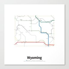 Highways of the USA – Wyoming Canvas Print