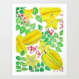 Starfruit Season Art Print