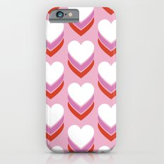 Sweethearts (Lavender & Red on Pink) iPhone 6s Slim Case