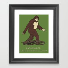 The Samsquanch (Anthropoidipes Sunnyvalis) Framed Art Print
