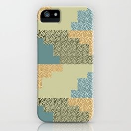 Shapes and dots iPhone Case