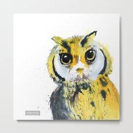 Inky Owl Metal Print