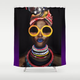 'Black Gold' Shower Curtain