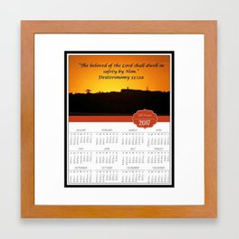 2017 Christian Calendar: The beloved of the Lord shall dwell in safety by Him, God, Love, NZ Framed Art Print