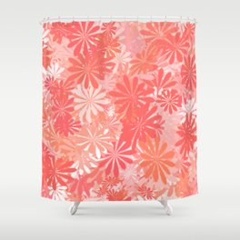 LIVING CORAL - FLORAL ASSORTMENT - COLOR OF THE YEAR 2019 Shower Curtain