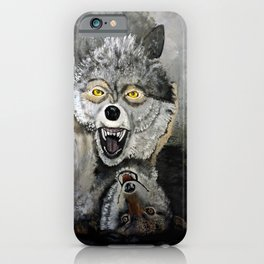 Wolf Play iPhone Case