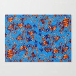 little orange hearts Canvas Print