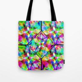 cactus-flower glitch 5 Tote Bag