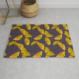 Ginkgo Leaf (Fall) - Plum Rug