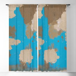 Turquoise and Gold Blackout Curtain