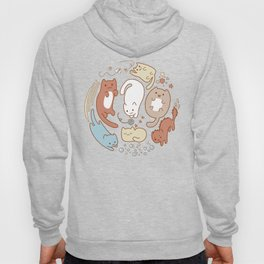 Seven cute cats. Hoody