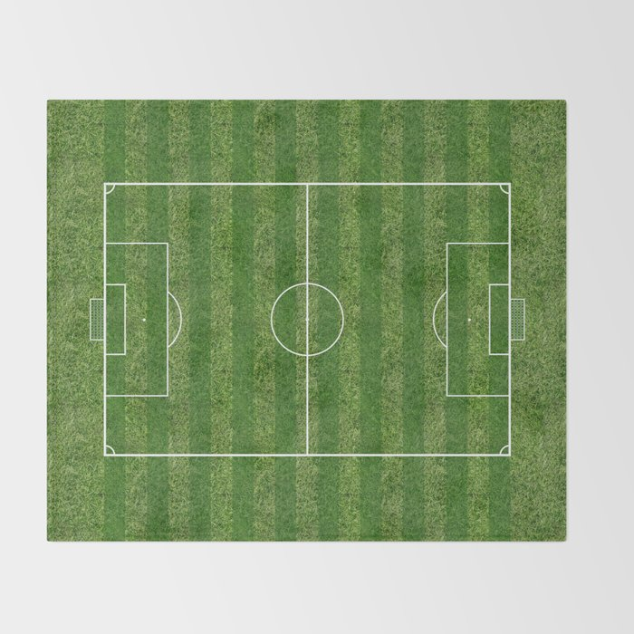 Soccer (Fooball) Field Throw Blanket