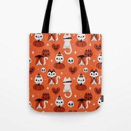 Halloween Kitties (Orange) Tote Bag