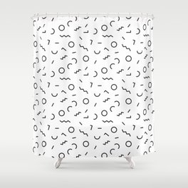 Memphis Style Abstract Pattern (black/white) Shower Curtain