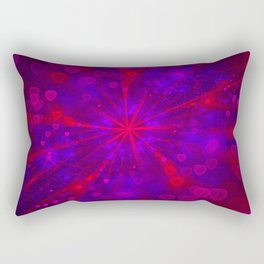 Valentine's Day | Romantic Galaxy | Universe of red, blue, purple hearts Rectangular Pillow