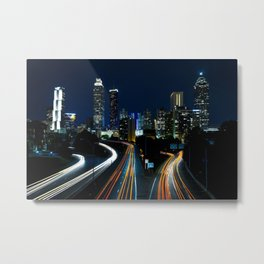 Atlanta Night Skyline Metal Print