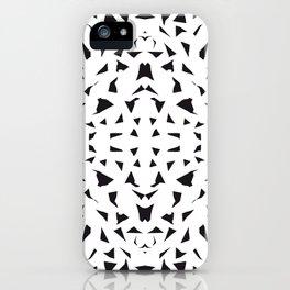 black fragments iPhone Case