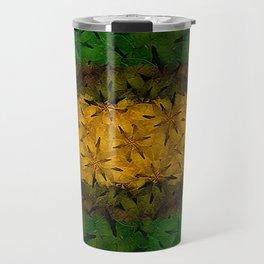 Tribal Floral Pattern Travel Mug