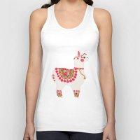 alpaca Tank Tops featuring The Alpaca by haidishabrina