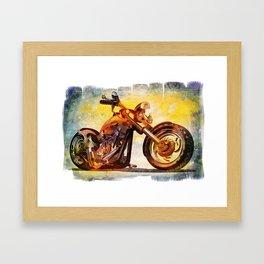 Fantasy Chopper Framed Art Print