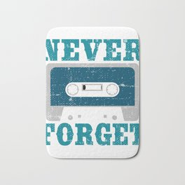Audio Tape Cassette Recorder. Made in the 80s tape. Never Forget T-shirt Design Audio Tape Vintage Bath Mat