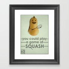 SQUASH  Framed Art Print