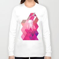popsicle Long Sleeve T-shirts featuring Raspberry Popsicle by Spires